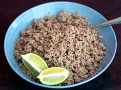 Salpicón (Nicaraguan Minced Meat) Recipe Salpicon Nica Minced Meat goes with gallopinto (maybe warn tortillas, and eggs) Meat Recipes, Food Processor Recipes, Cooking Recipes, Healthy Recipes, Dinner Recipes, Healthy Eating Tips, Healthy Dishes, Healthy Cooking, Clean Eating