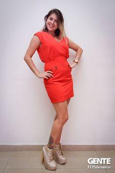 Vestido rojo  - Moda en el Alferez Real - Galeria en: http://ow.ly/sxYNK