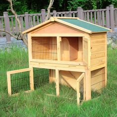 "40"" Wooden Chicken Coop Rabbit Hutch Cage Hen House Pet Poultry Animal Cage Run #LH"