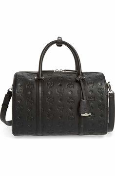 10764184e6ab4a MCM Signature Monogram Embossed Leather Crossbody Bag Black Leather  Crossbody Bag, Emboss, Nordstrom,