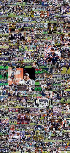 NEW ENGLAND PATRIOTS SUPER BOWL XLIX WINNER  40 X 86 in / 100 x 220 cm Collage from 201 images  http://www.football-poster.com/?product=new-england-patriots