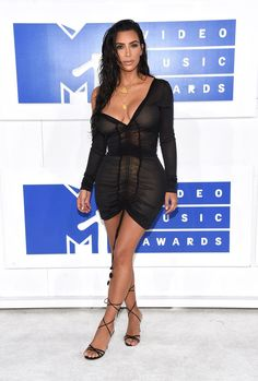 Photos : MTV VMA's 2016 : Kim Kardashian : une tenue et un discours... très…