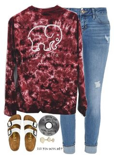 """""""dreaming, I was only dreaming"""" by kaley-ii ❤ liked on Polyvore featuring River Island, Birkenstock and Kendra Scott"""