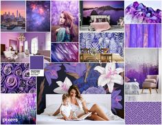 A 2018 év színe az Ultra Violet - vagyis az égszínkék lila - Agria Textil Design Ultra Violet, Pantone, Lily Pulitzer, Tapestry, Image, Collage, Home Decor, Tapestries, Homemade Home Decor
