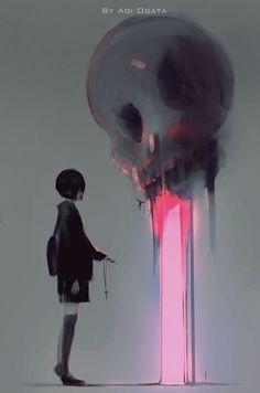 "ArtStation - "" way out "", Aoi Ogata"