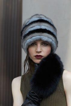 Cappello visone. Paolo Moretti produttore di accessori di pelliccia