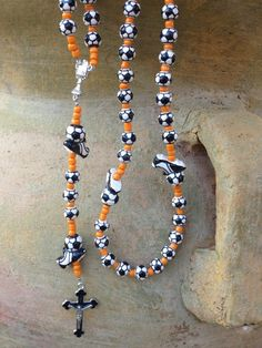 Custom Sports Themed Rosary  SOCCER Great FIRST COMMUNION Gift idea for boys or girls on Etsy, $29.50