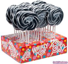 Black & White Swirl 1.5-Ounce Whirly Pops: 24-Piece