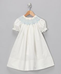 Take a look at this Ivory Carla Bishop Dress - Toddler & Girls on zulily today!