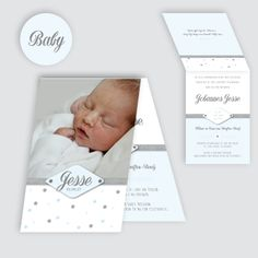 Geboortekaartje Jesse, ontworpen door Ontwerp Studio Rottier