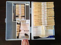 """à lire, à bâtir, à écrire carte - read, build, write (printable)       """"À lire, à bâtir, à écrire"""" work with words literacy kits and..."""