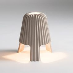 Bosa silk table lamp glossy white #maisonobjet #lighting #design