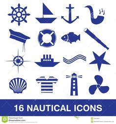 Nautical icon collection eps10