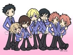 Ouran High School Host Club Chibis ^w^