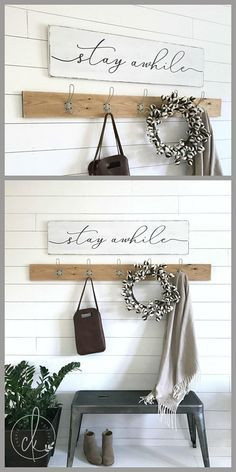 Stay awhile wood sign stay awhile sign entryway wall decor rustic wood sign entryway decor wooden signs 47 x 11 25 - Entryway wall decor, Rustic wall decor, Bathroom wall decor, Entryway wall, Entrywa - Love Wooden Sign, Rustic Wood Signs, Rustic Walls, Wooden Signs, Wood Walls, Wooden Sign Sayings, Wooden Kitchen Signs, Diy Rustic Decor, Rustic Design