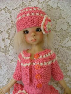 """OOAK Spring Outfit for Kaye Wiggs 18"""" BJD Layla, Toby and other same size dolls"""