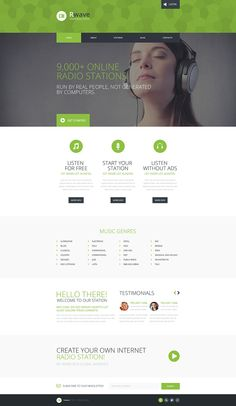Radio Website Responsive Website Template #50969