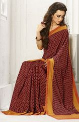 Maroon Color Crepe Daily Wear Sarees : Rimi Collection YF-29601