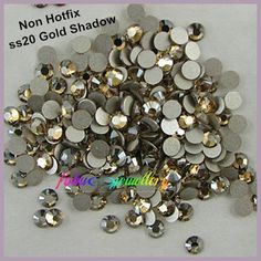 [Visit to Buy] Free Shipping! 1440pcs/Lot, ss20 (4.8-5.0mm) Gold Shadow Flat Back Non Hotfix Nail Art Rhinestones #Advertisement