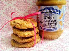 White chocolate peanut butter banana cookies