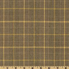 Yarn Dyed Plaid Suiting Tan/Gold from @fabricdotcom  Turn heads in this statement plaid suiting fabric! Medium Weight with a great drape, this suiting fabric is perfect for creating stylish skirts, jackets, suits and dresses.
