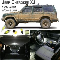 1997-2001 Jeep Cherokee XJ Interior LED Light Set - Dome Lamp Model