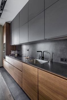 The 39 Best Black Kitchens Kitchen Trends You Need To See House & Living Modern Kitchen Design BLACK house Kitchen Kitchens Living Trends
