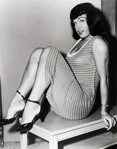 Bettie Page. As Bettie Page.