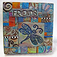 Friends PC Tile Mosiac Dragonfly Hummingbird Owl by ashpaints