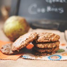 Oatmeal-Pear Caramel Glazed Cookies
