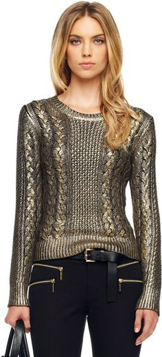 3b857318a22 Foiled Fisherman Sweater http   www.lyst.com clothing michael