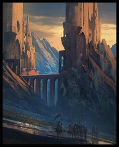 Raphael Lacoste:  In the mood for knights wink emoticon   Photoshop, couple of hours, Enjoy ! #epic #castle #illustration