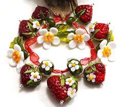 Erdbeerherzen by Jopanda Glassworks