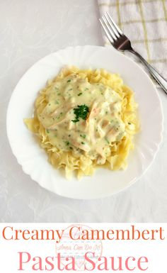 Creamy Camambert Pasta - Anna Can Do It! - Creamy Camambert Pasta Sauce is a divine, rich and simple sauce, perfect for a fancy dinner or a hearth-warming lunch. Brie Cheese Recipes, Veggie Recipes, Pasta Recipes, Vegetarian Recipes, Cooking Recipes, Healthy Recipes, Recipe Pasta, Pasta Sauces, Dinner Recipes