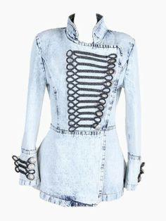 Blue Balmain Style Shrug Short Denim Jacket - Choies.com