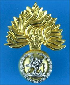 Fusilier Bde badge worn with distinctive individual regimental hackles Queen Elizabeth Crown, Queen Crown, British Soldier, British Army, St Georges Day, Police Life, Military Cap, Royal Life, Military History