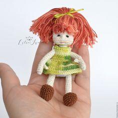 Купить Кукла вязаная детская игрушка Кристи - вязаная игрушка, вязаная кукла