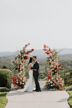 Stunningly graceful and romantic arbour space. Abundant florals with a modern twist using our bespoke plinths. Tones of blush pink, peaches and white including coral Bougainvillia. #willowbudflowers #modernceremony #floralplinths #arbour #theoldmalenydairy #amyhiggsphotography #sunshinecoasthinterlandweddings Wedding Arbors, Wedding Ceremony Arch, Ceremony Backdrop, White Wedding Decorations, Wedding Centerpieces, Floral Arch, Wedding Pinterest, Bridal Flowers, Floral Wedding