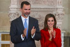 King Felipe VI of Spain and Queen Letizia of Spain attend the 2014 Investigation National Awards ceremony at The Royal Palace on January 15, 2015 in Madrid, Spain