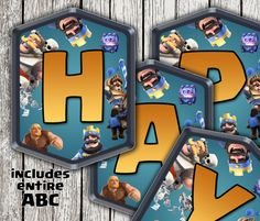 Clash Royale Printable Banner, Clash Royale Birthday Party, Clash Royale Party Happy Birthday Banner,Customized Clash Royal Birthday Bunting
