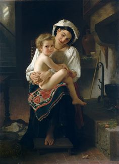 Bouguereau, William-Adolphe - Young Mother Gazing at Her Child. 1871 | da ros_with_a_prince