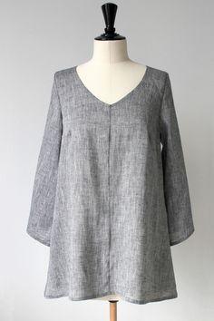 NO NAME Linen Tunic, DENIM GREY (149,-)