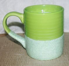 Lime Green Glitter Mug with Soy Candle Lime  by DancingWindDesigns