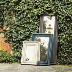 Wall Mirror - Consiglio Mirror (color - distressed off-white over spa)