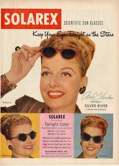 Solarex Sun Glasses Fashion Ann Sheridan Ad T (1948)