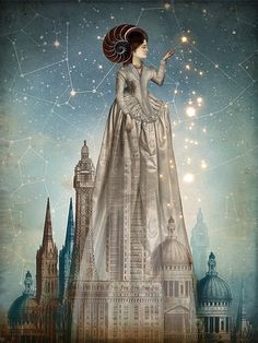 Vintage collage illustration by German digital artist Catrin Welz-Stein // surrealism / art Art Magique, Art Du Monde, Pop Surrealism, Modern Surrealism, Wassily Kandinsky, Canvas Prints, Art Prints, Surreal Art, Oeuvre D'art