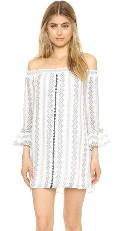 ENGLISH FACTORY Off Shoulder Mini Dress   SHOPBOP