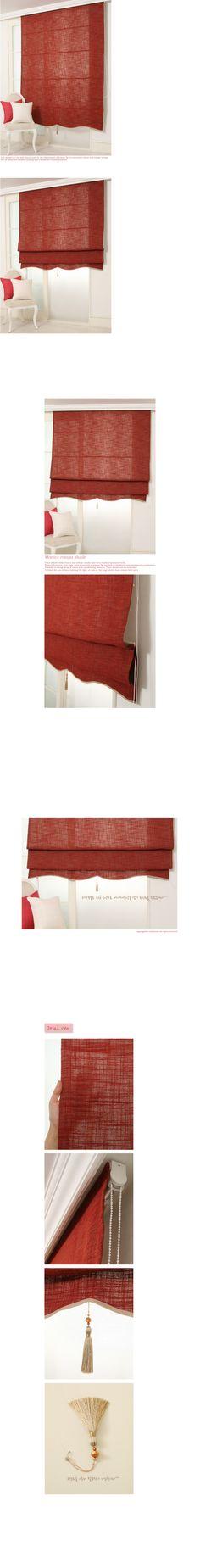메이크룸 [모니카무지 로만쉐이드(red)]
