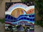 Linda Reed Beach Garden Mosaic Sunset absolutearts.com