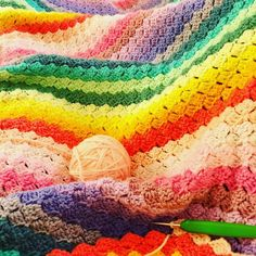 "a corner to corner ""Spring Rainbow"" blanket Cherry, Corner, Rainbow, Blanket, Create, Spring, Crochet, Kids, Chrochet"